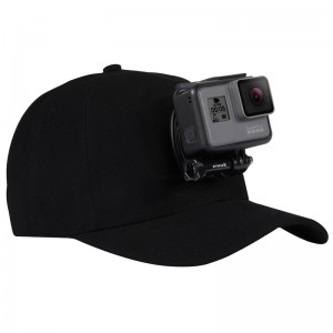 Бейсболка (Черная) GoPro, Sjcam, Xiaomi yi