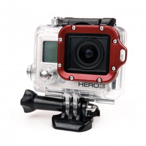 Алюминиевая рамка объектива GoPro HERO3/2 (Красная)