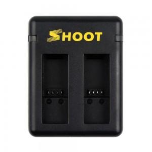 Зарядное устройство для аккумуляторов GoPro HERO5/6/2018/7 (Shoot) Двойная