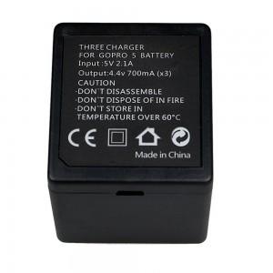 Зарядное устройство для аккумуляторов GoPro HERO5/6/2018/7 Black Тройная