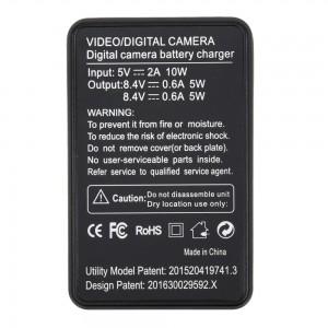 Зарядное устройство для аккумуляторов Xiaomi Yi/4K/4K+/Lite (Probty) Двойная