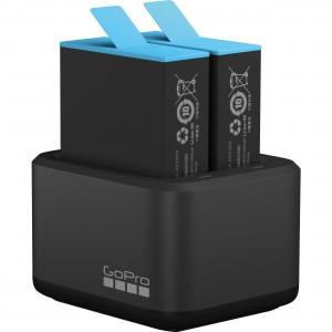 Комплект Зарядное устройство двойное + аккумулятор GoPro HERO9 Black (Оригинал)
