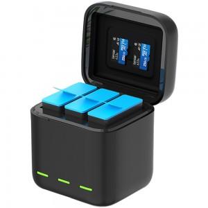 Зарядное устройство для аккумуляторов GoPro HERO9 Тройная (TELESIN)