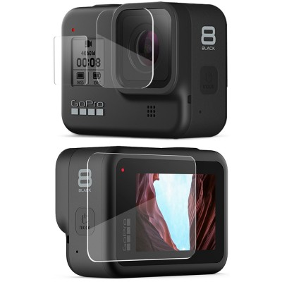 Защитное стекло на экран и объектив GoPro HERO8 Black
