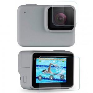 Защитное стекло на экран и объектив GoPro HERO7 Silver/White (SHOOT)