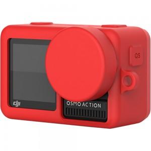 Силиконовый чехол на камеру DJI Osmo Action (Красный)