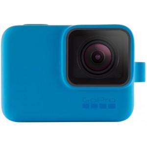 Силиконовый чехол GoPro Sleeve and Lanyard на камеру GoPro HERO5/6/2018/7 (Синий)