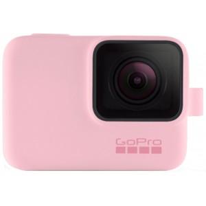 Силиконовый чехол GoPro Sleeve and Lanyard на камеру GoPro HERO5/6/2018/7 (Розовый)