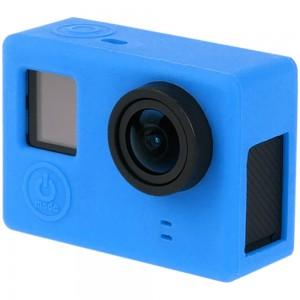 Силиконовый чехол на камеру GoPro Hero 3+, 4 (Синий) v.2