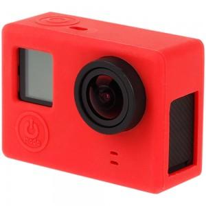Силиконовый чехол на камеру GoPro Hero 3+, 4 (Красный) v.2
