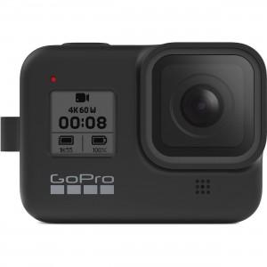 Силиконовый чехол с ремешком Sleeve + Lanyard GoPro HERO 8 (Черный)