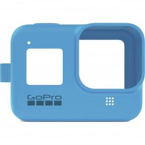 Силиконовый чехол с ремешком Sleeve + Lanyard GoPro HERO 8 (Синий)