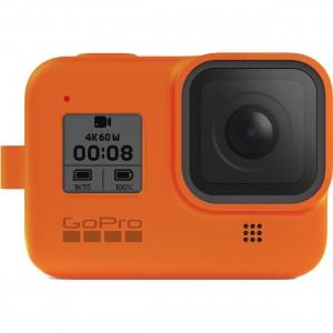 Силиконовый чехол с ремешком Sleeve + Lanyard GoPro HERO 8 (Оранжевый)