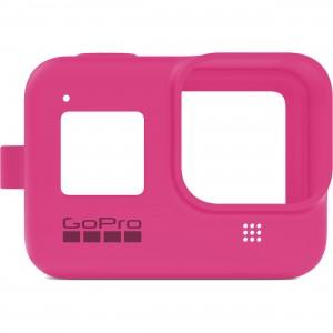 Силиконовый чехол с ремешком Sleeve + Lanyard GoPro HERO 8 (Розовый)