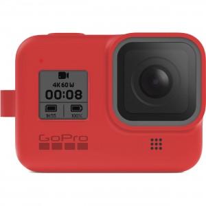 Силиконовый чехол с ремешком Sleeve + Lanyard GoPro HERO 8 (Красный)