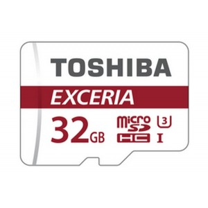 Карта памяти Toshiba EXCERIA microSDHC 32Gb class 10 UHS-I U3 + SD Adapter