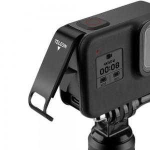 Крышка боковая с открытым портом Type-C для GoPro HERO8 (TELESIN) Алюминиевая