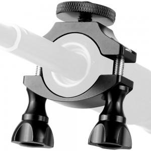 Крепление на руль, трубу с резьбой 1/4 Алюминиевое (Чёрный)