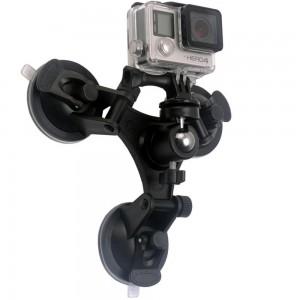 Присоска тройная с шарниром для экшн-камеры GoPro, Sjcam, Xiaomi yi