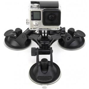 Присоска тройная GoPro, Sjcam, Xiaomi yi