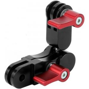 Удлинитель с шарниром 360 градусов Алюминиевый (Красный) GoPro, Sjcam, Xiaomi yi