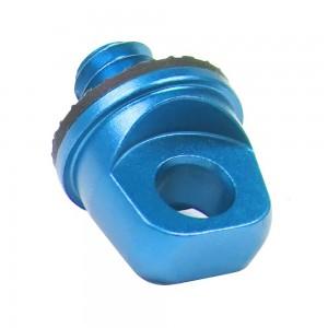 Винт с кольцом и резьбой 1/4 дюйма Алюминиевый (Синий)