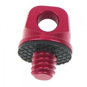 Винт с кольцом и резьбой 1/4 дюйма Алюминиевый (Красный)